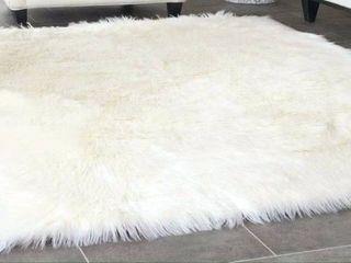 lochas Ultra Soft White Fur Rug 4x6