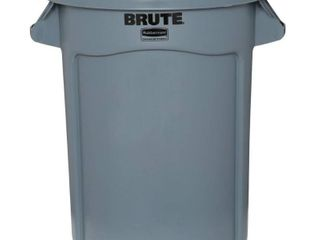 Rubbermaid Commercial FG263200GRAY Brute Heavy Duty Round Container 32 gallon  Gray