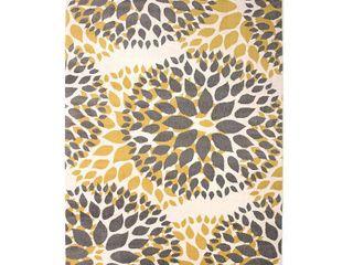 Modern Floral Design Yellow 2  X 7  2  Runner Rug