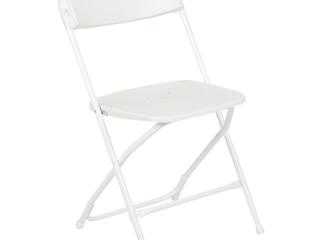 Flash Furniture  1 Pack of 10  HERCUlES Series Premium Plastic Folding Chair  White