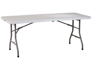 Banquet Table  Office Star Collapsible Portable 6  Banquet Table Gray