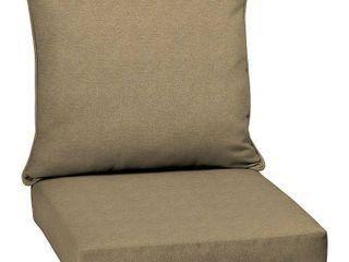 Arden Selections Tan Hamilton Olefin 46 5 x 24 in  Outdoor Deep Seat Cushion Set