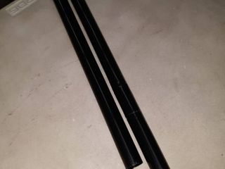Black plastic tubing