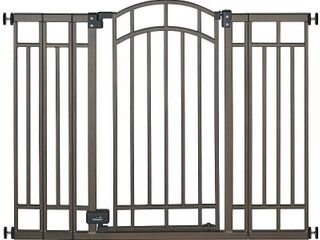 Summer Infant Multi Use Bronze Deco Extra Tall Walk Thru Gate  possibly missing hardware