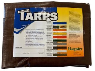 30 Ft  x 30 Ft  Super Heavy Duty Brown 8 Oz  Tarp   16 Mil Thick