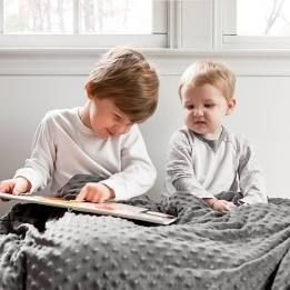 Harkla Weighted Blanket for Kids  10lbs  Grey