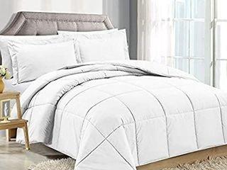 Clara Clark Down Alternative Comforter   King california King  Gray