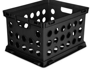 3  Sterilite  File Crate  Black