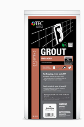 Tec Unsanded Grout Bright White 10lb bag