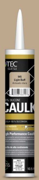 TEC 10 5 Fl oz light Buff Silicone Caulk I Tube