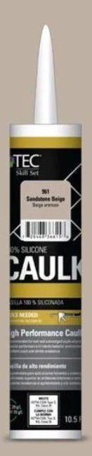 TEC 10 5 Fl oz Sandstone Beige Silicone Caulk I Tube