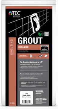Tec Unsanded Grout BrightWhite 10lb bag