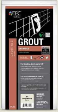 Tec Unsanded Grout Standard White 10lb bag