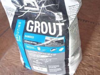 Tec Sanded Grout Charcoal Gray 10 lb bag