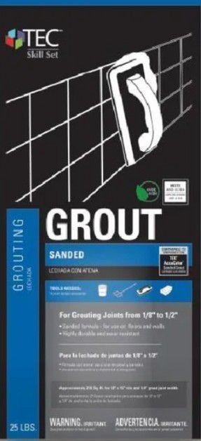Tec Sanded Grout Delorean Gray 10lb bag