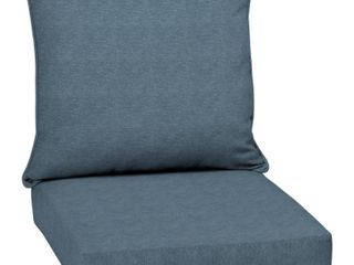 Arden Selections Denim Alair Texture Outdoor Deep Seat Set   46 5  l x 24  W x 5 75  H