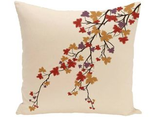 26 x 26 inch Maple Hues Floral Print Pillow