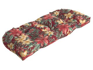 Arden Selections Ruby Clarissa Tropical Wicker Settee Cushion 18  l x 41 5  W x 5  H