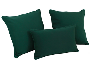 Copper Grove Elk Island Solid Twill Throw Pillows  Set of 3