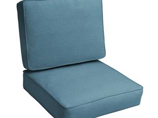 Sunbrella Denim Blue Indoor Outdoor Deep Seating Cushion Set  Corded