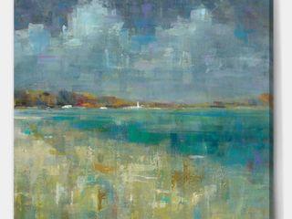 Designart 'Sky and Sea' Nautical & Coastal Framed Canvas