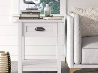 Click Decor Manufactured Wood Night Stand with 1 Drawer and Shelf