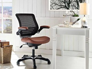 Modway Expedition Mesh Black leatherette Office Chair Tan Retail 199 99