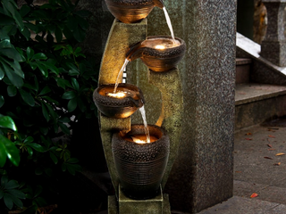 40-inch H Modern Outdoor Fountain - Outdoor Garden Fountain for Patio