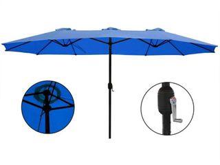 Morigio 15x9-foot Rectangular Outdoor Patio Umbrella by Havenside Home- Retail:$131.49