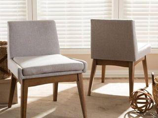 Carson Carrington Lillestrom Mid-Century Fabric Dining Side Chair 2-Piece Set