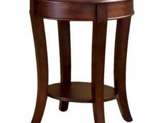 Copper Grove Teton Cherry Finished End Table Brown Traditional