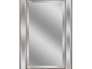 Headwest Metro Beaded Wall Mirror  Champagne Silver 24 x36