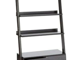 Bower 4-Drawer Storage Ladder Bookcase Cappuccino by Coaster Company