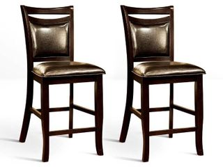 Furniture of America Zita Contemporary Brown Counter Chairs  Set of 2