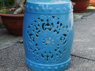 Isfahani Ceramic Ceramic Garden Stool