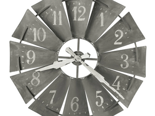 Howard Miller Windmill Metal Windmill Wall Clock 34  Retail 255 99