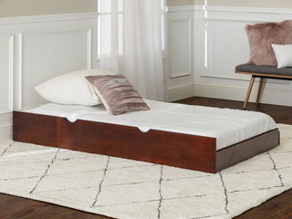Solid Wood Trundle Bed   Espresso
