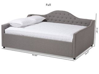 Headboard from Baxton Studio Eliza Modern And Contemporary Daybed CF8940 Grey Daybed Q T