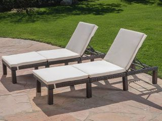 Jamaica Outdoor Water Resistant Chaise lounge Cushion  Set of 2  by Christopher Knight Home Retail 169 99