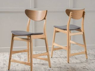 Carson Carrington lund Wood 24 inch Counter Stool  Set of 2