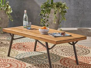 Canoga Outdoor Industrial Coffee Table by Christopher Knight Home  Retail 199 99