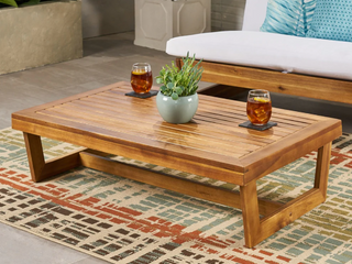 Sherwood Outdoor Acacia Wood Coffee Table by Christopher Knight Home  Teak