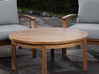Marina Outdoor Patio Teak Round Coffee Table  Retail   795 00