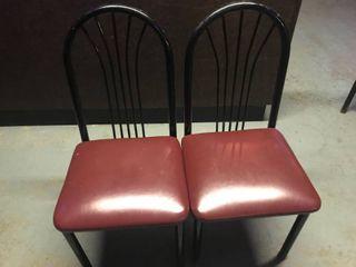 Maroon Chairs x2