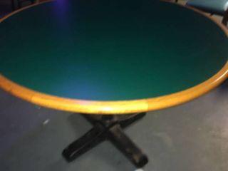 large Circular Green Table