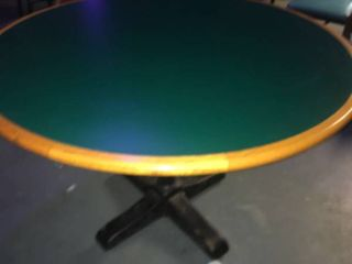 light Brown and Green Table