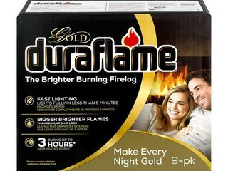 Duraflame Firelogs, Brighter Burning, Gold, Box, 4.5 LB