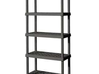Sterilite 5 Shelf Unit Flat Gray