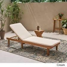 Nadine Outdoor Fabric Chaise lounge Cushion cream