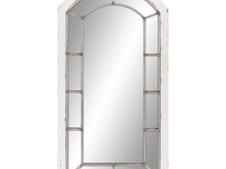 Patton Wall Decor 24x44 Distressed Arch Windowpane Wall Mirror  Retail 118 99